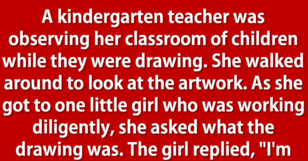Student Has Hilarious Reply When Teacher Questions Her Drawing