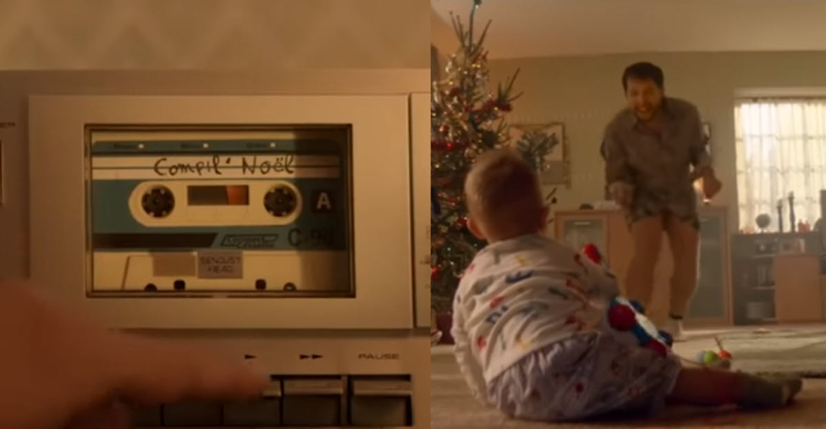 Funny Heartwarming Christmas Commercial Shows Dad Singing And Dancing For His Son