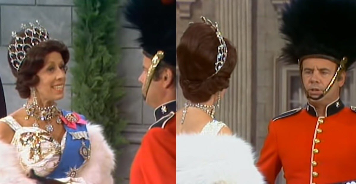 Carol Burnett and Tim Conway Star in Side-splitting Queen and the Password Demanding Palace Guard Skit